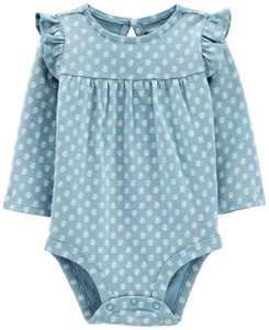 Baby Girl Ruffle Long-Sleeve Bodysuit