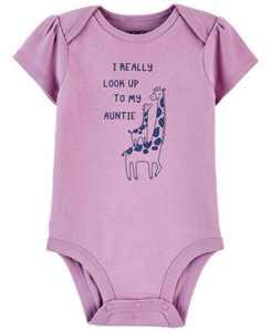 Baby Girl Giraffe Aunt Original Bodysuit