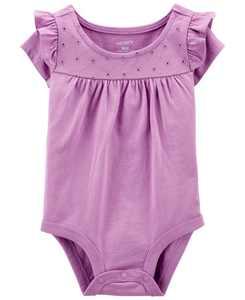 Baby Girl Eyelet Flutter Bodysuit