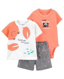 Baby Crab Little Short Set