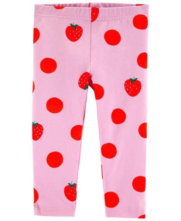 Toddler Girls Strawberry Capri Leggings