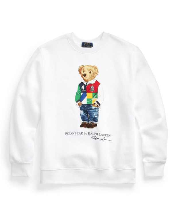 Big Boys Polo Bear Fleece Sweatshirt