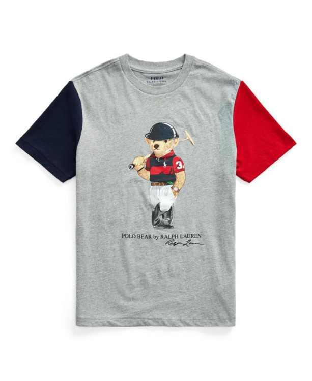 Big Boys Polo Bear Cotton Jersey Tee