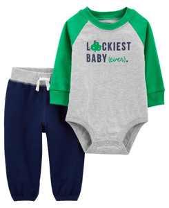 Baby Boy St. Patrick's Day Bodysuit Pant Set