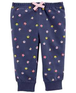 Baby Girls Floral Pull-On Pants