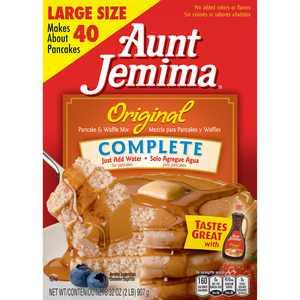 Aunt Jemima Original Complete Pancake & Waffle Mix, 32 oz Box