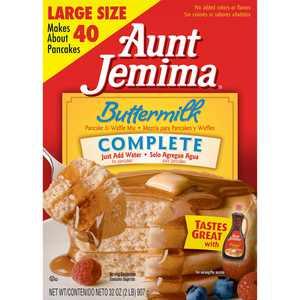 Aunt Jemima Buttermilk Complete Pancake & Waffle Mix, 32 oz Box