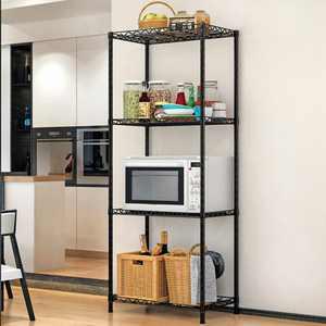 "4 Tier Wire Shelving Unit 22""x12""x42"" Heavy Duty Metal Shelves Shelf Organizer Rack Height Adjustable for Kitchen Bathroom Office Garage"