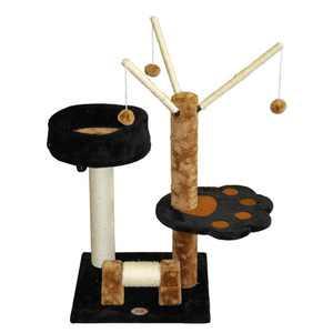 Go Pet Club F3011 Light Weight Economical Cat Tree Furniture - Black & Brown