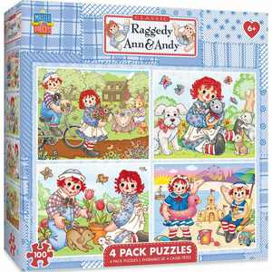 MasterPieces 4-Pack Puzzles - Raggedy Ann 4-Pack 100 Piece Puzzle