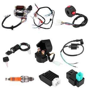 FAGINEY 50 70 90 110CC CDI Harness Assembly Wiring Kit ATV Electric Start QUAD,Ignition Coil, Spark Plug