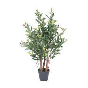 "Vickerman 30"" Artificial Olive Tree in Black Plastic Pot"