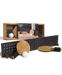 Portable Wooden Table Tennis Set