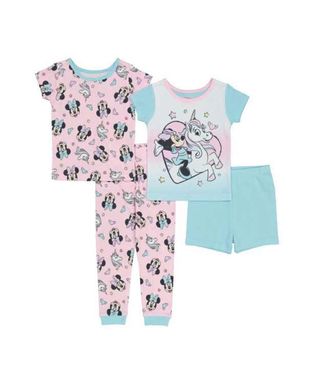 Minne Mouse Toddler Girls Cotton 4 Piece Set