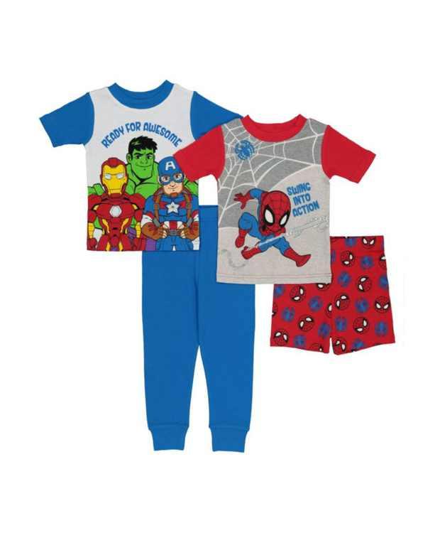 Toddler Boys Cotton 4 Piece Set