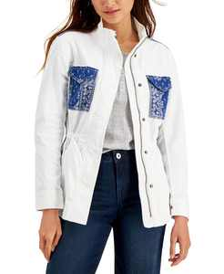 Petite Printed Twill Jacket, Created for Macy's