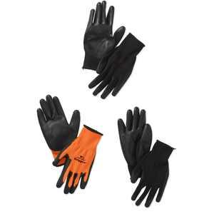559LF The Gripper Work Gloves in Hi Viz Orange, PU-Coated, One Size Fits Most, 3-Pack