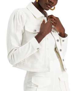 Volume-Sleeve Denim Jacket, Created for Macy's