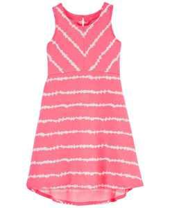 Little Girls Tie-Dye Hi-Lo Dress