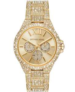 Women's Camille Multifunction Gold-Tone Stainless Steel Pave Bracelet Watch 42mm