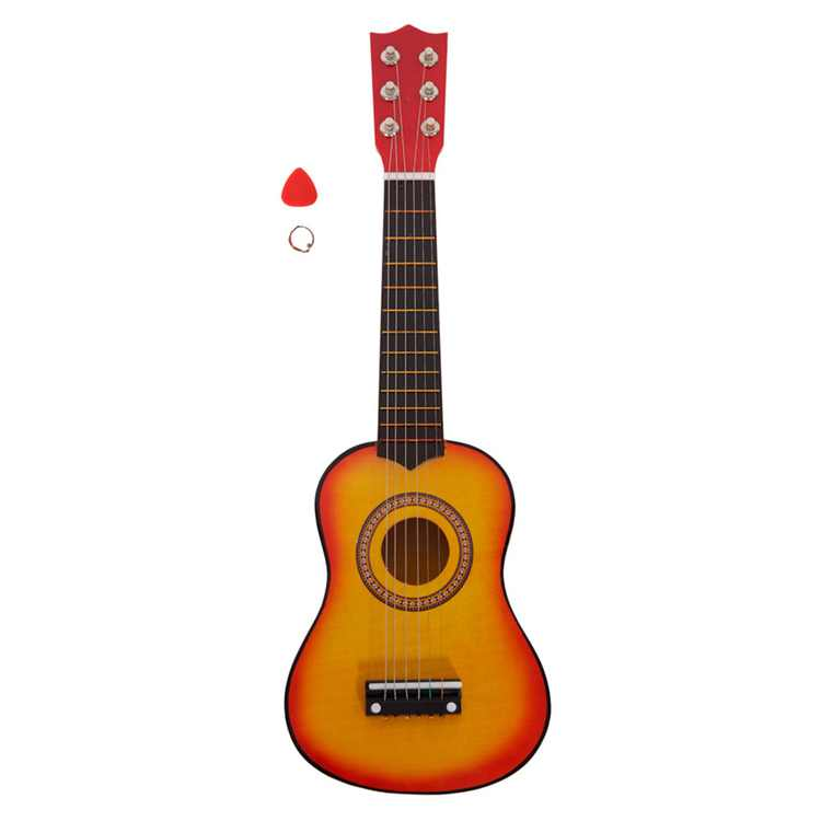 25 Inch Acoustic Guitar Beginner Kids Guitar Children Musical Instrument with Pick and String
