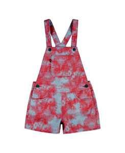 Big Girls Tie Dye Shortalls Dress