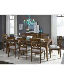 Highland Rectangle Dining Table 9-Pc. (Rectangle Table & 8 Side Chair), Created for Macy's
