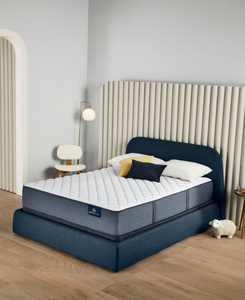 """Perfect Sleeper Cozy Escape 12"""" Firm Mattress Set- Queen"""