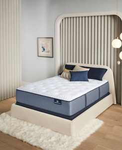 """Perfect Sleeper Renewed Night 14"""" Plush Mattress Set- Twin XL"""
