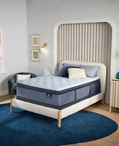 """Perfect Sleeper Renewed Sleep 17"""" Firm Pillow Top Mattress Set- Queen"""