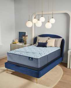 "Perfect Sleeper Luminous Sleep 15"" Medium Firm Mattress Set- Full"