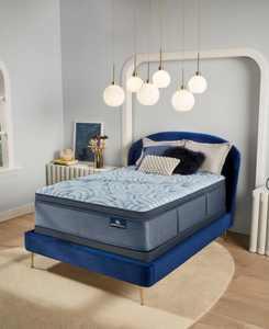 """Perfect Sleeper Luminous Sleep 17.5"""" Medium Firm Pillow Top Mattress Set- Full"""