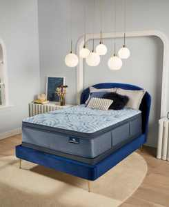 """Perfect Sleeper Luminous Sleep 17.5"""" Medium Firm Pillow Top Mattress Set- Queen"""