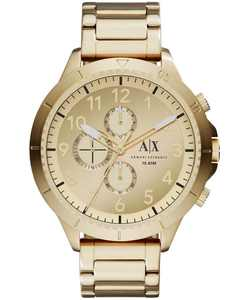Men's Chronograph Gold Tone Stainless Steel Bracelet Watch 50mm