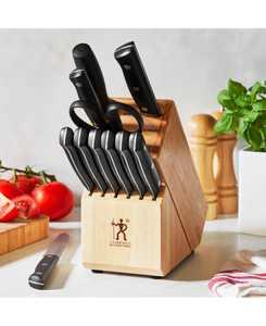 Dynamic Cutlery & Natural Wood Block 12-Pc. Set
