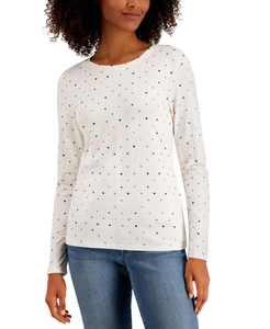 Dot Heart Printed Long-Sleeve T-Shirt, Created for Macy's