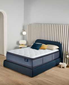 "Perfect Sleeper Cozy Escape 15"" Plush Pillow Top Mattress Set- Queen Split"