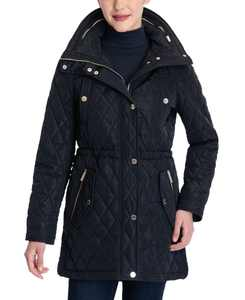 Hooded Quilted Coat, Created for Macy's