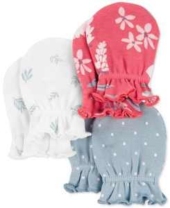 Baby Girls 3-Pack Mittens