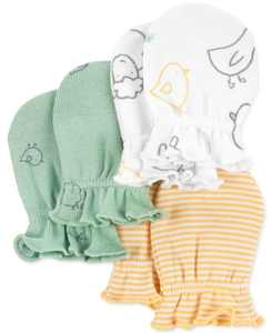 Baby Boys or Girls 3-Pack Mittens