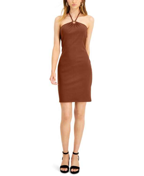 Ribbed Bodycon Halter Dress, Created for Macy's