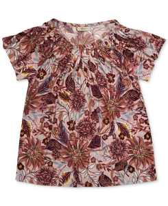Pleated Printed Top, Created for Macy's