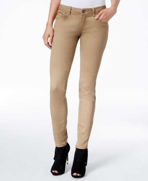 Juniors' Jayden Mid-Rise Colored Wash Skinny Jeans