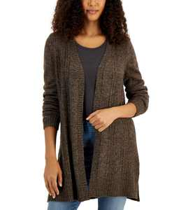 Open-Front Side-Slit Cardigan, Created for Macy's