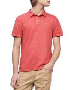 Men's Monogram Logo Slub Polo Shirt