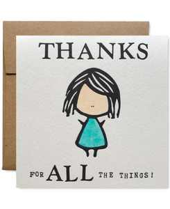 Thanks For All The Things Greeting Card