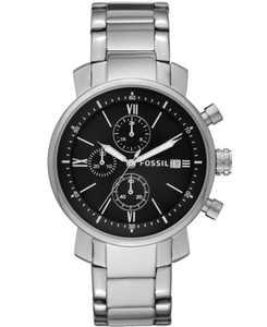Men's Rhett Chronograph Silver-Tone Stainless Steel Watch 42mm