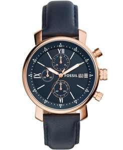 Men's Rhett Chronograph Blue Leather Watch 42mm