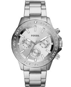 Men's Bannon Multifunction Stainless Steel Silver-Tone Bracelet Watch 45mm