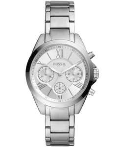 Women's Modern Courier Chronograph Stainless Steel Silver-Tone Watch 36mm